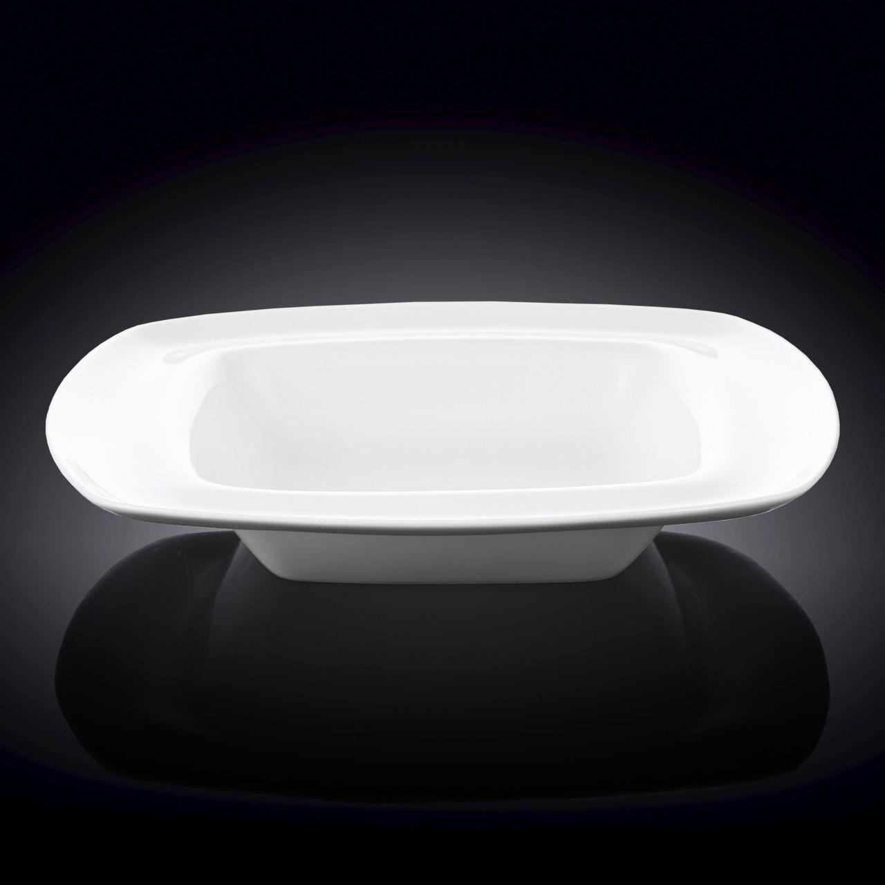 Тарелка глубокая квадратная Wilmax Undina 24см 380мл