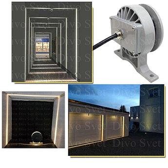 """LED светильник """"Луч 360гр"""" 12 W. Светодиодный светильник для архитектурной подсветки окон и тд."""