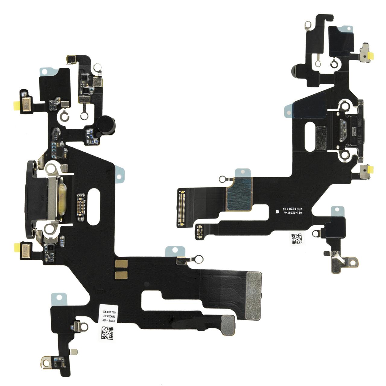 Шлейф Apple iPhone 11 с коннектором заряда, Black