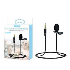 Микрофон петличка, KM-002, Jack 3.5 mm, Black