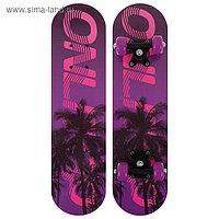 Скейтборд подростковый «Пальмы» 62 × 16 см, колёса PVC 50 мм, пластиковая рама
