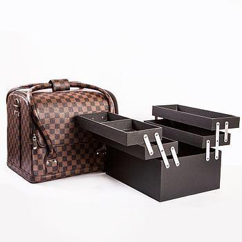 "Кейс-сумка  для мастера маникюра ""Шахматная доска"""