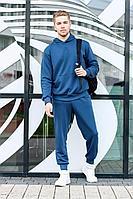 Мужской осенний трикотажный синий спортивный большого размера спортивный костюм GO M3000/20-01 44р.