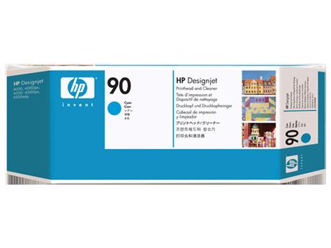 HP C5055A Печатающая головка голубая и устройство очистки HP 90, для DesignJet 4000/4500