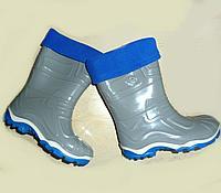 Резиновые сапоги Дюна 230/02 УФ, серо-синие (31)
