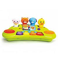 Развивающая игрушка Hola Toys ПИАНИНО ВЕСЕЛЫЕ ЗВЕРЯТА (музыка, свет)