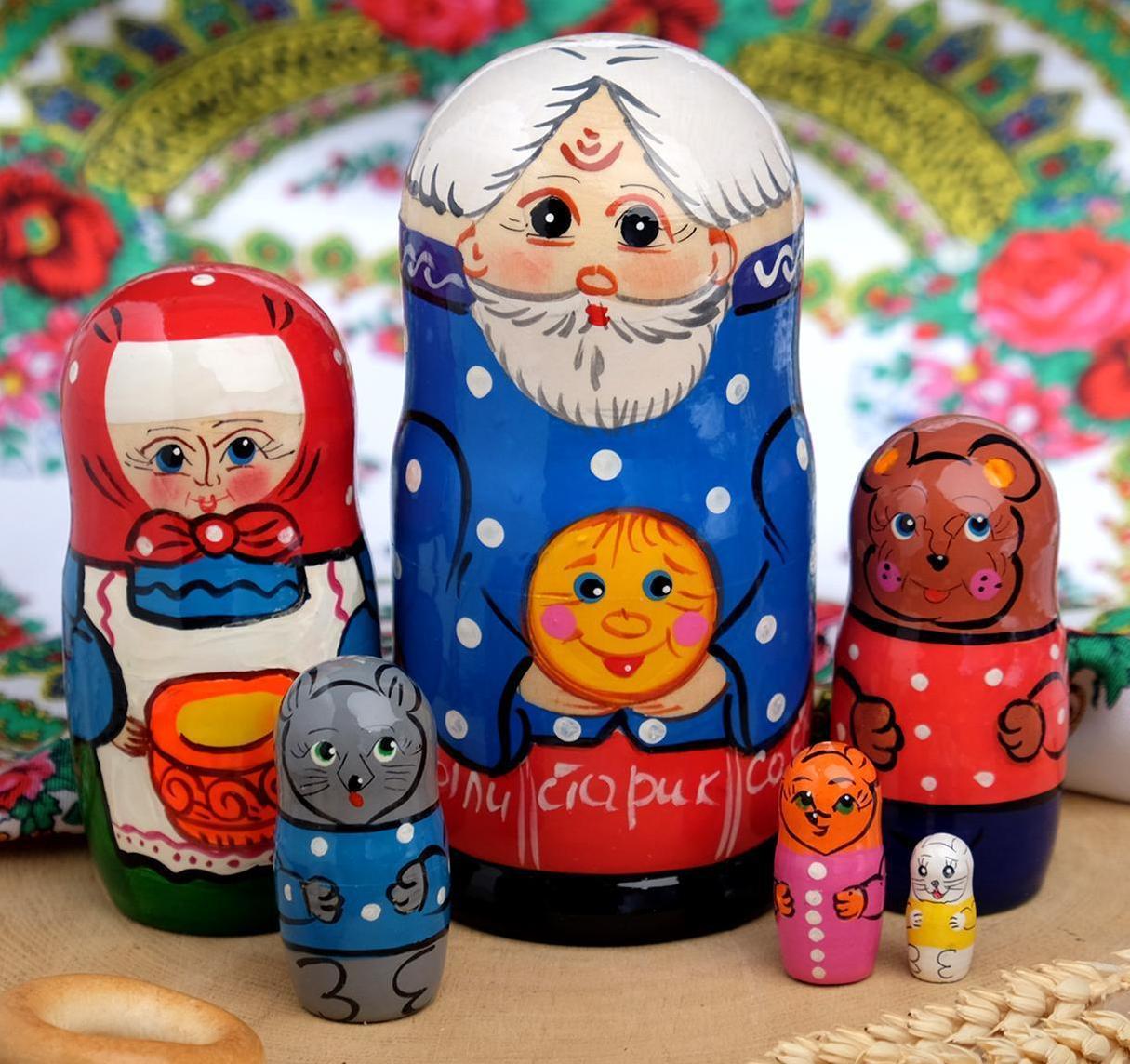 "Матрешка ""Колобок"", 6 кукол"
