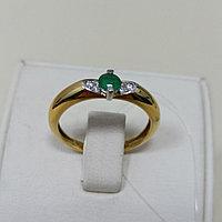 Кольцо с изумрудом и бриллиантами