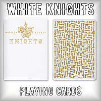 White Knights Playing Cards