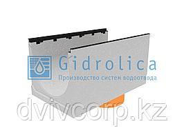 Лоток водоотводный бетонный коробчатый (СО-500мм), с чугунной насадкой, с водосливом KUв  100.60,3