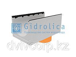 Лоток водоотводный бетонный коробчатый (СО-500мм), с чугунной насадкой, с водосливом КUв 100.60,3 (50).45(36)