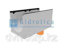 Лоток водоотводный бетонный коробчатый (СО-400мм), с чугунной насадкой, с водосливом КUв 100.49,9