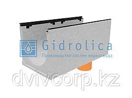 Лоток водоотводный бетонный коробчатый (СО-400мм), с чугунной насадкой, с водосливом КUв 100.49,9 (40).47(40)
