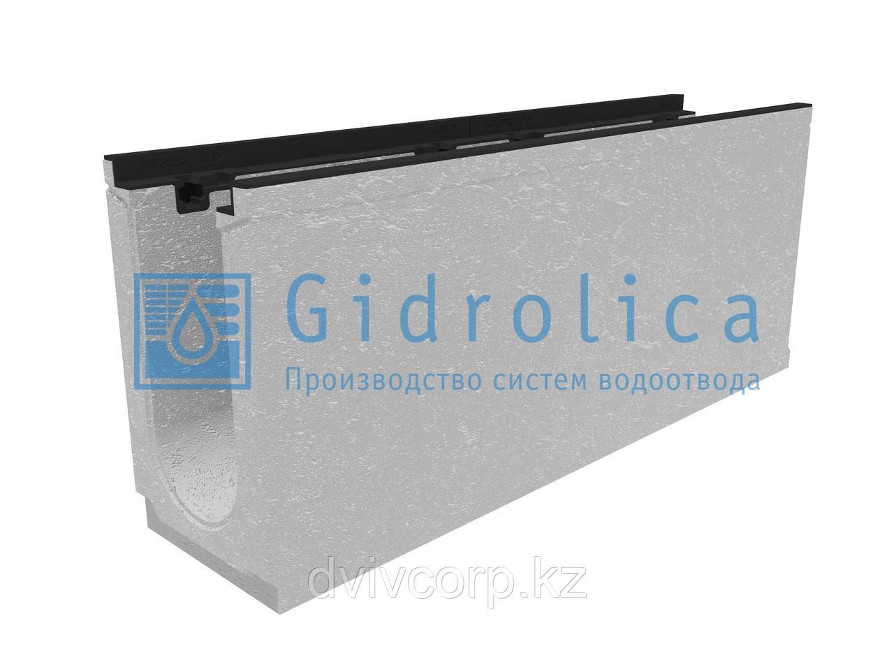 Лоток водоотводный бетонный коробчатый (СО-150мм), с чугунной насадкой КU 100.24,8 (15).41,5(35) - BGZ-S, №