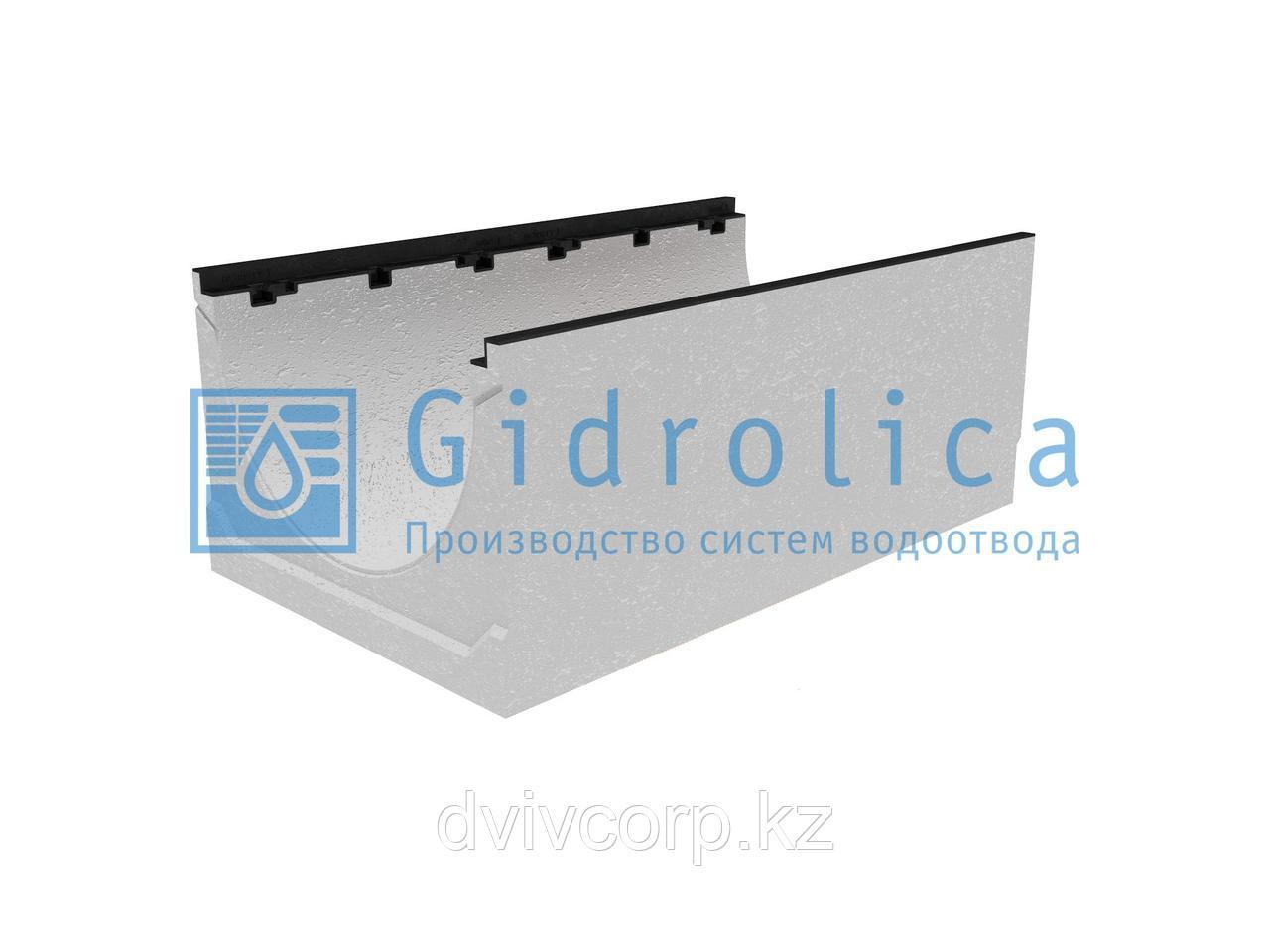 Лоток водоотводный бетонный коробчатый (СО-500мм), с чугунной насадкой КU 100.60,3 (50).40(31) - BGZ-S, №