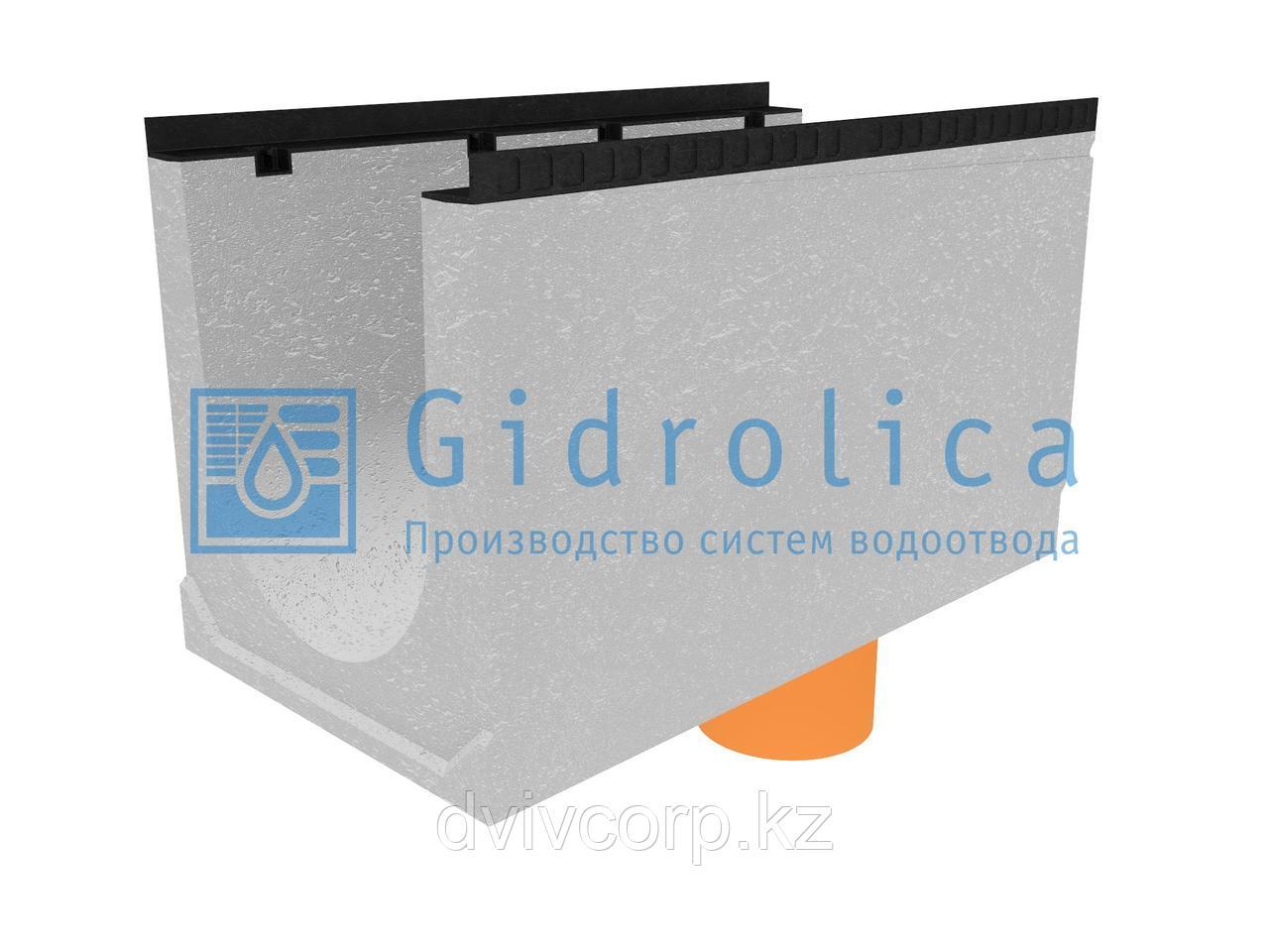 Лоток водоотводный бетонный коробчатый (СО-400мм), с водосливом КUв 100.54(40).60(52) - BGМ, № 30-0