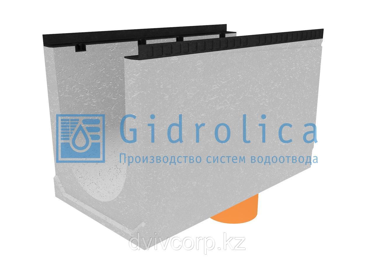 Лоток водоотводный бетонный коробчатый (СО-400мм), с водосливом КUв 100.54(40).62,5(54,5) - BGМ, № 35-0