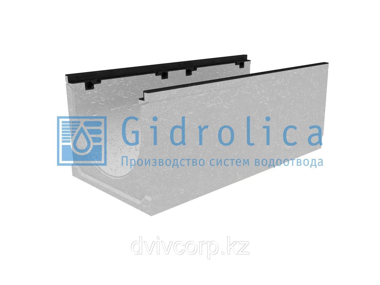 Лоток водоотводный бетонный коробчатый (СО-400мм), с чугунной насадкой КU 100.49,9 (40).39,5(32,5) - BGZ-S, №