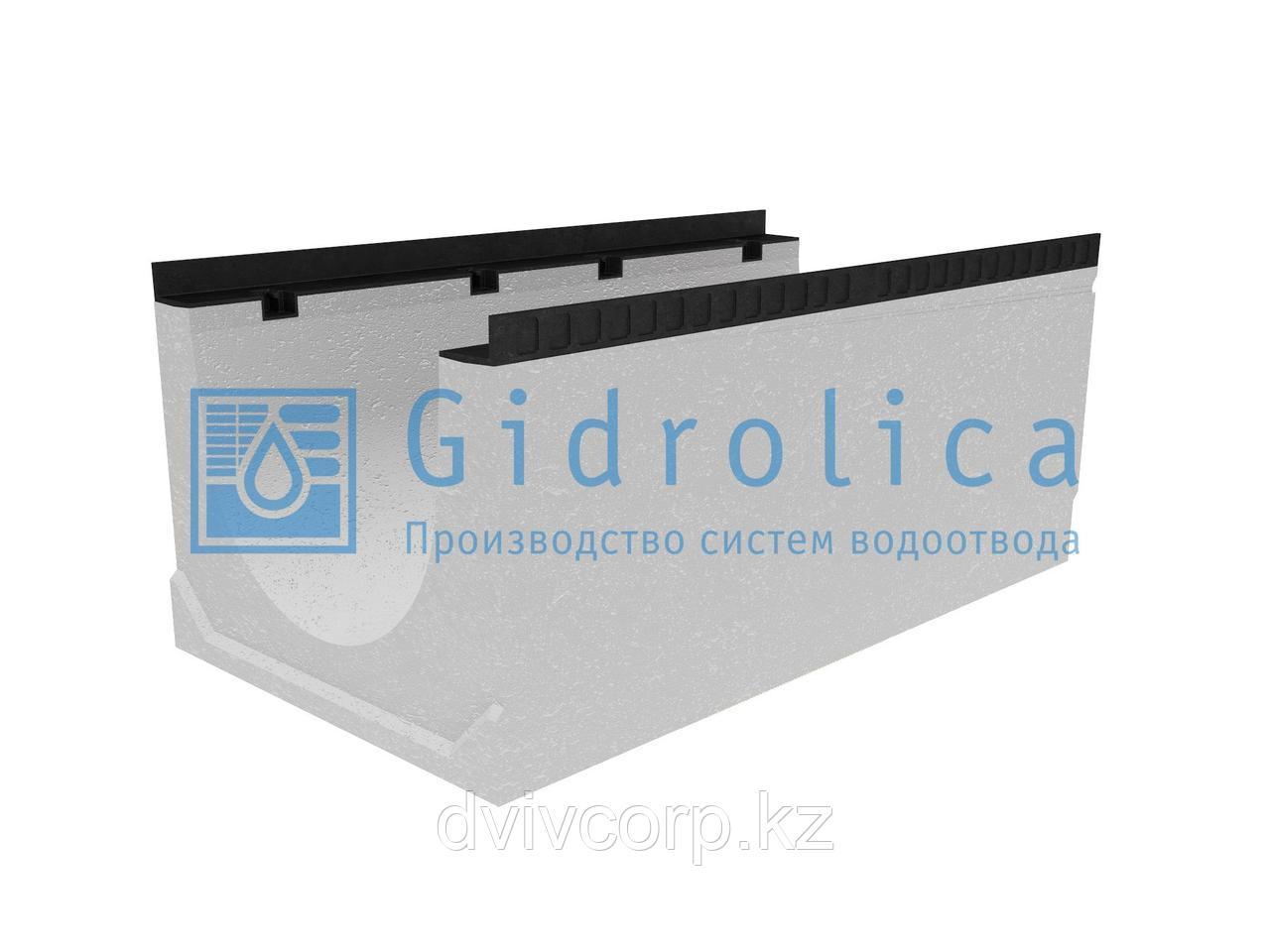 Лоток водоотводный бетонный коробчатый (СО-400мм)КU 100.54(40).42,5(34,5) - BGМ, № -5-0