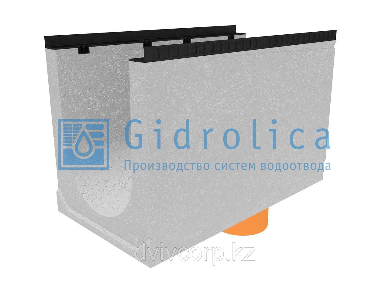 Лоток водоотводный бетонный коробчатый (СО-400мм), с водосливом КUв 100.54(40).65(57) - BGМ, № 40-0
