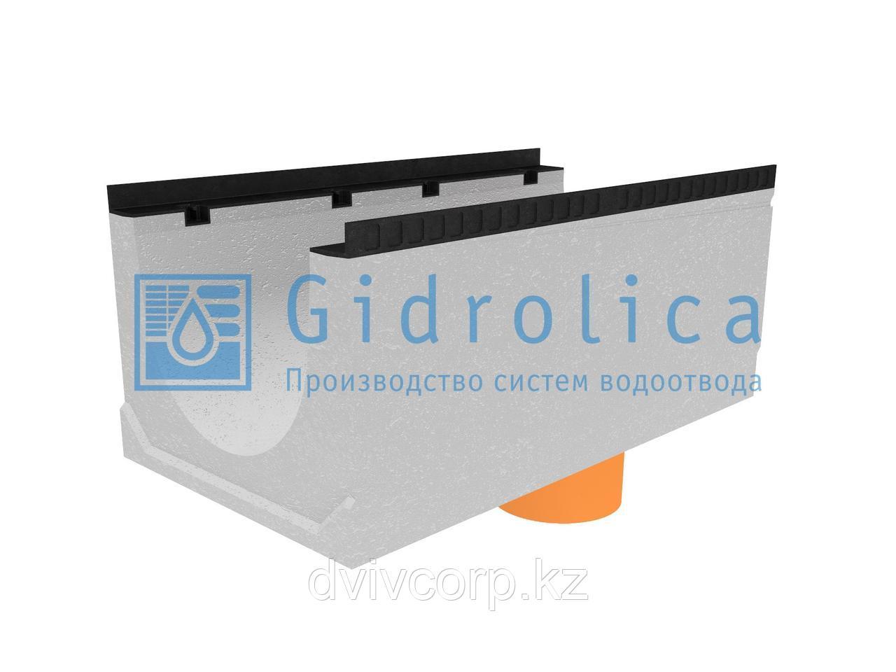 Лоток водоотводный бетонный коробчатый (СО-400мм), с водосливом КUв 100.54(40).42,5(34,5) - BGМ, № -5-0