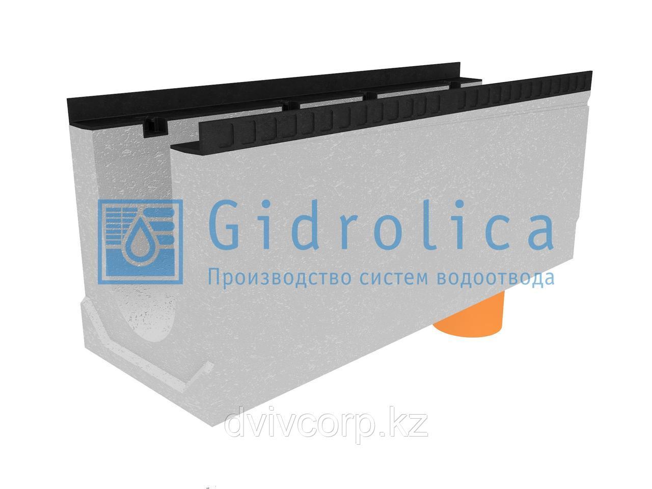 Лоток водоотводный бетонный коробчатый (СО-200мм), с водосливом КUв 100.34(20).41(34) - BGМ, № 20-0