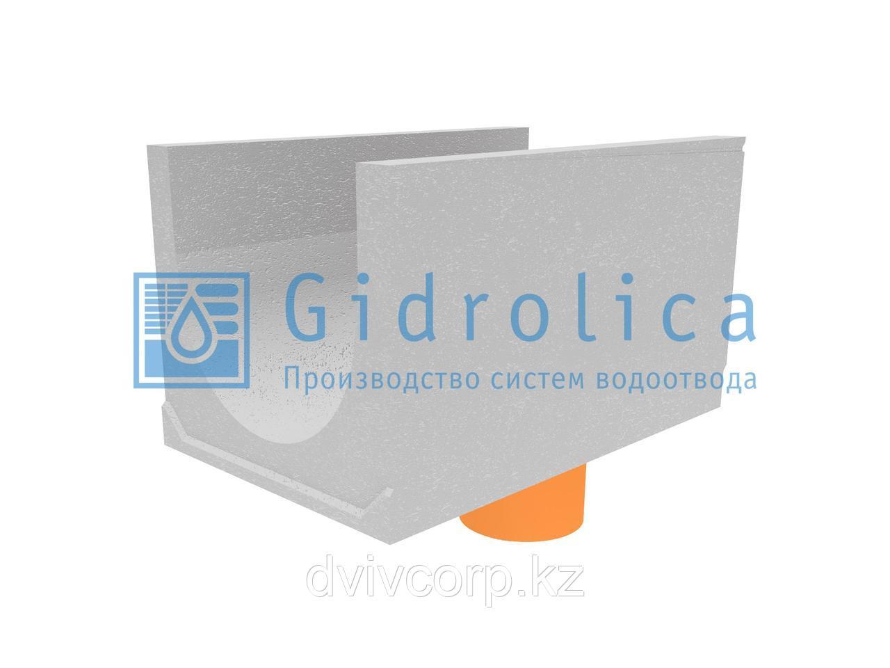 Лоток водоотводный бетонный коробчатый (СО-500мм), с водосливом КUв 100.65(50).57,5(48,5) - BGU-XL, № 25-0