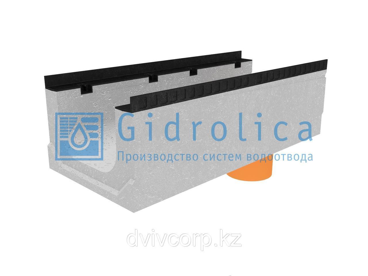Лоток водоотводный бетонный коробчатый (СО-300мм), с водосливом КПв 100.44(30).31(24) - BGМ-F