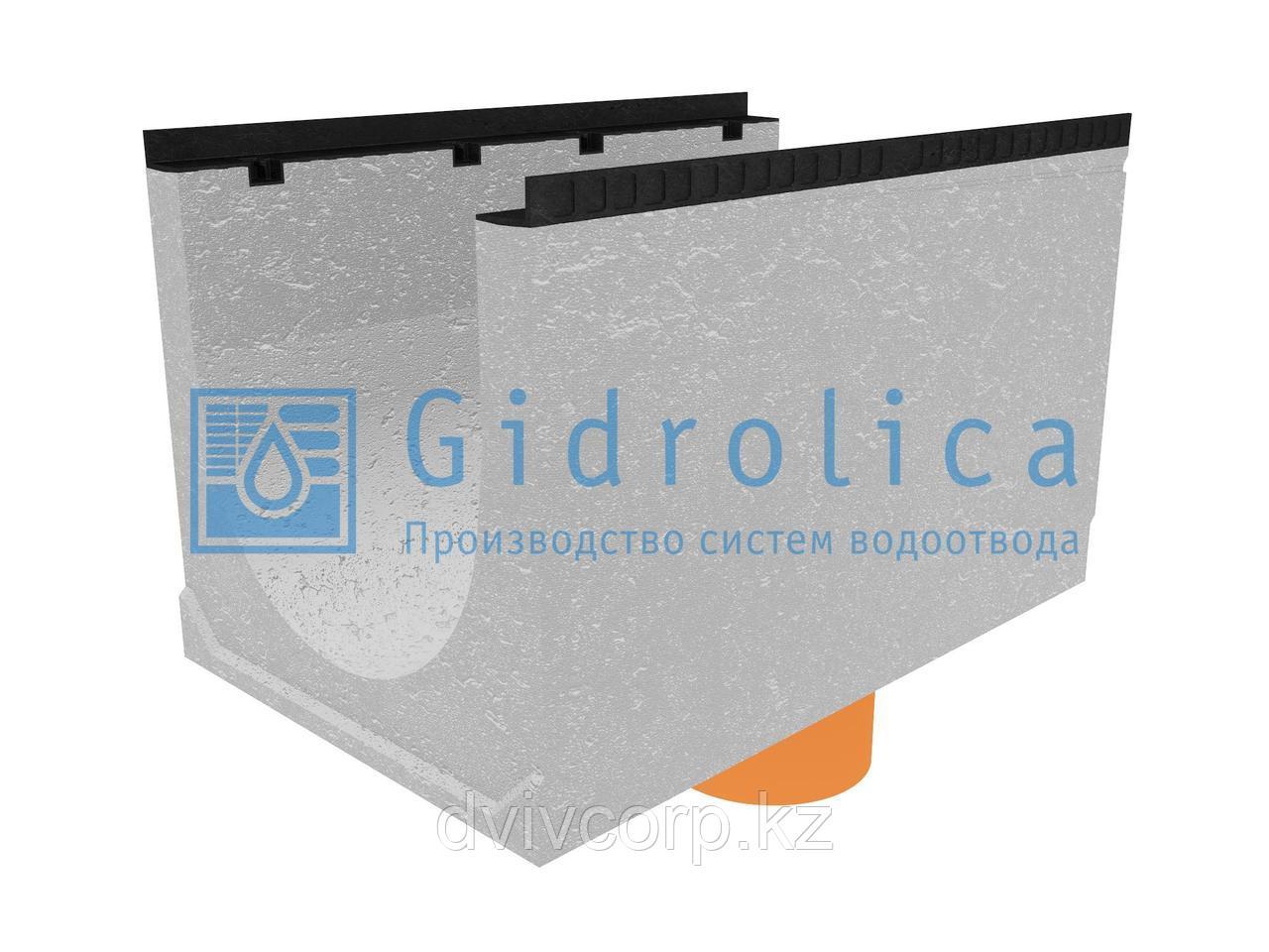 Лоток водоотводный бетонный коробчатый (СО-500мм), с водосливом КUв 100.65(50).62,5(53,5) - BGМ, № 35-0