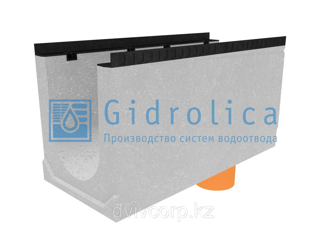 Лоток водоотводный бетонный коробчатый (СО-300мм), с водосливом КUв 100.44(30).52,5(45,5) - BGМ, № 15-0