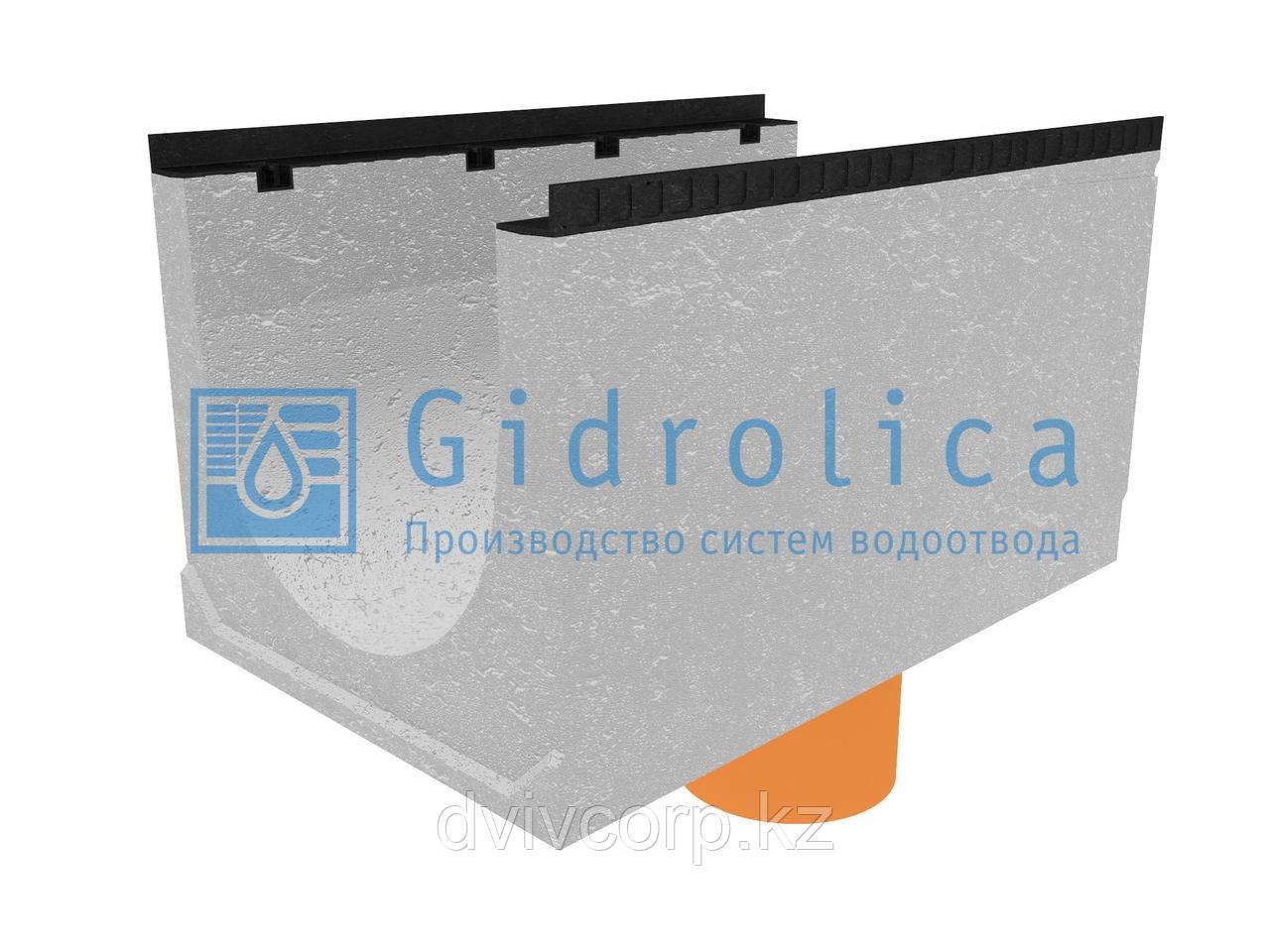 Лоток водоотводный бетонный коробчатый (СО-500мм), с водосливом КUв 100.65(50).57,5(48,5) - BGМ, № 25-0