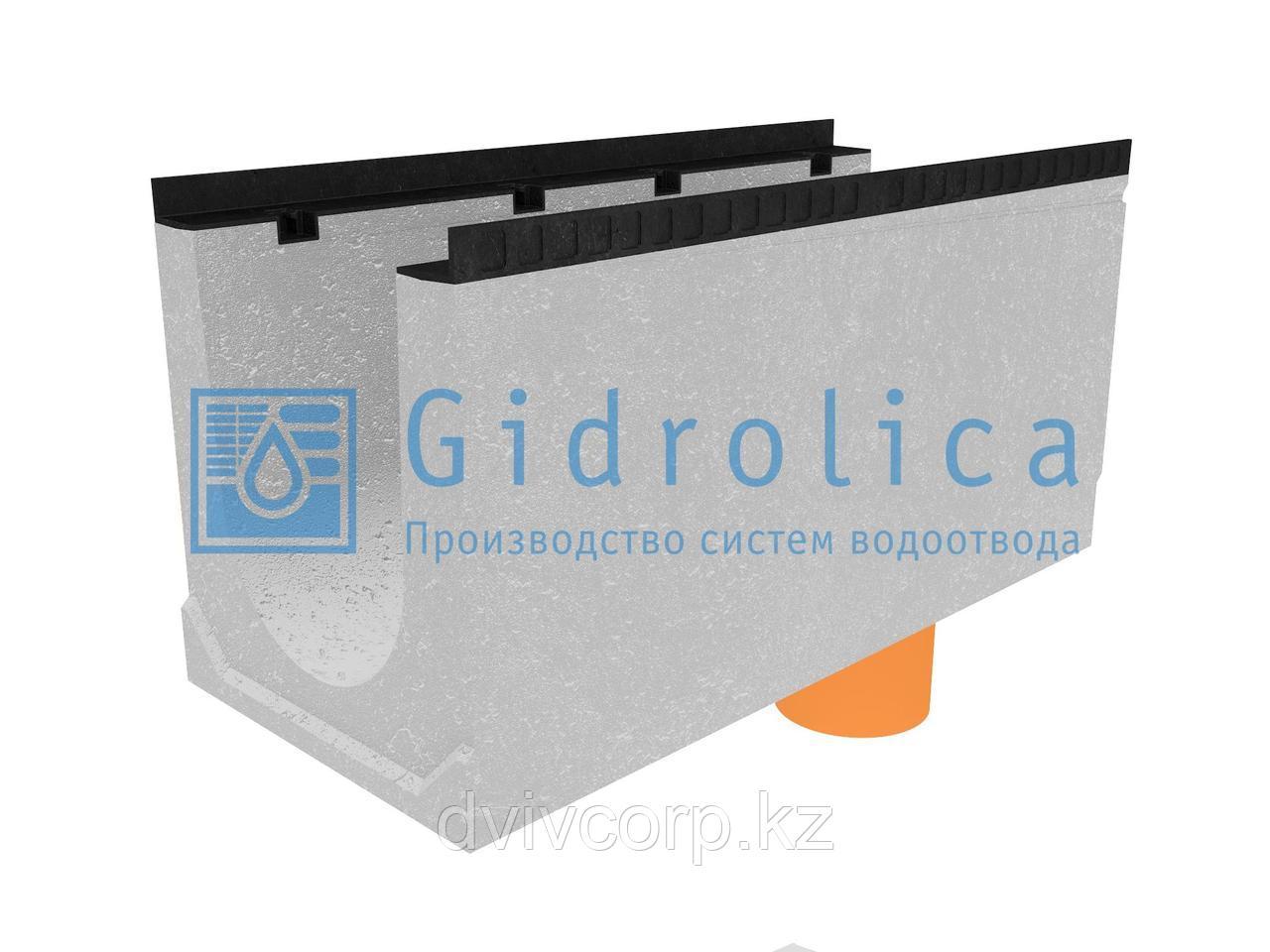 Лоток водоотводный бетонный коробчатый (СО-300мм), с водосливом КUв 100.44(30).50(43) - BGМ, № 10-0