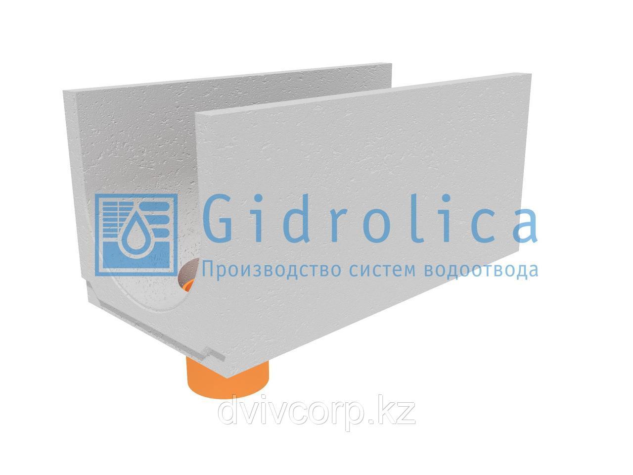 Лоток водоотводный бетонный коробчатый (СО-400мм), с водосливом КUв 100.49,4(40).47(40) - BGU, № 15-0