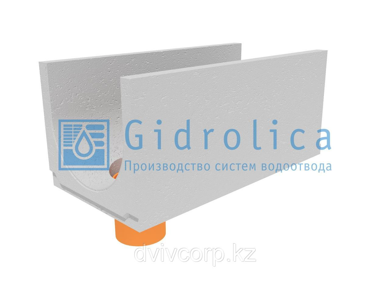 Лоток водоотводный бетонный коробчатый (СО-400мм), с водосливомКUв 100.49,4(40).44,5(37,5) - BGU, № 10-0