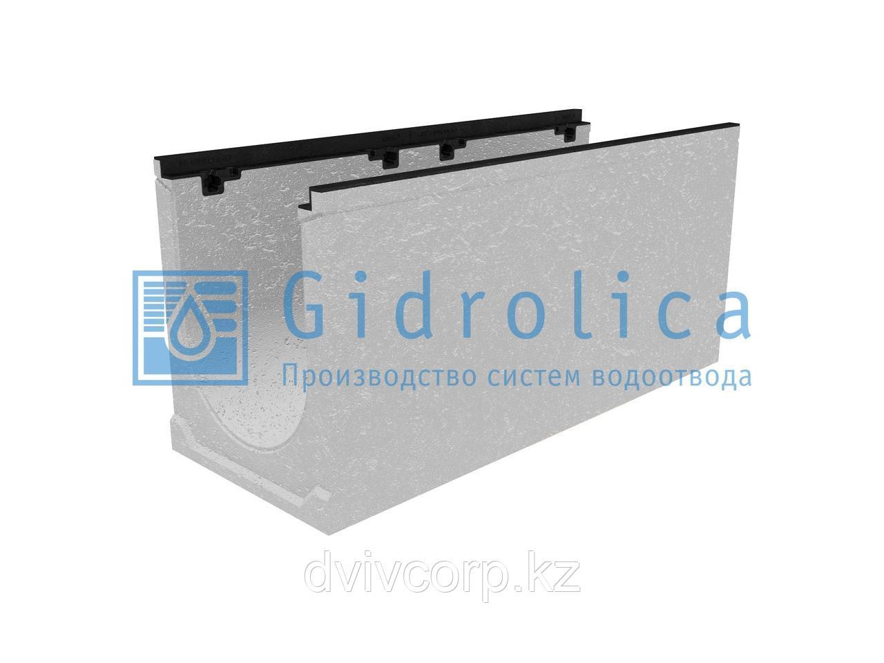Лоток водоотводный бетонный коробчатый (СО-300мм), с чугунной насадкой  КU 100.39,9 (30).47(40) - BGZ-S, №