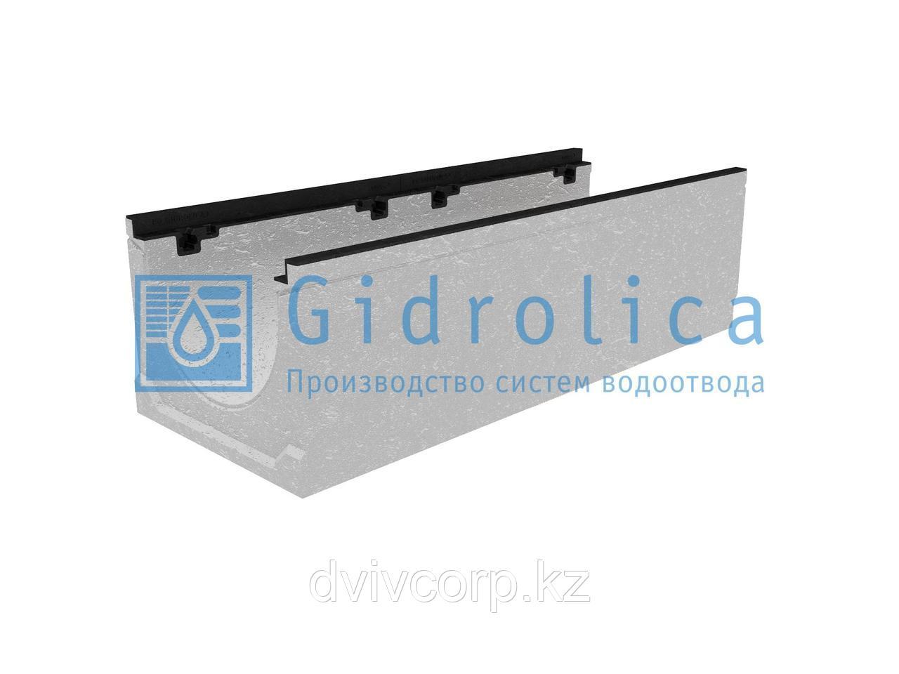Лоток водоотводный бетонный коробчатый (СО-300мм), с чугунной насадкой  КU 100.39,9 (30).29,5(22,5) - BGZ-S, №