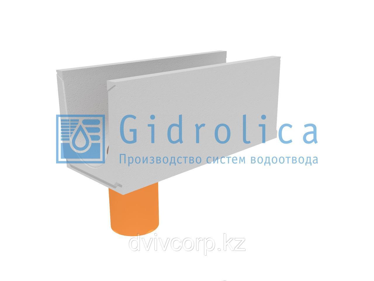 Лоток водоотводный бетонный коробчатый (СО-300мм), с водосливом КUв 100.39,4(30).42(35) - BGU, № 5-0