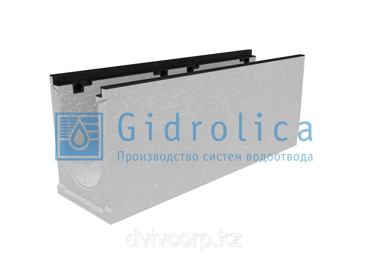 Лоток водоотводный бетонный коробчатый (СО-200мм), с чугунной насадкой КU 100.29,8 (20).39,5(32,5) - BGZ-S, №