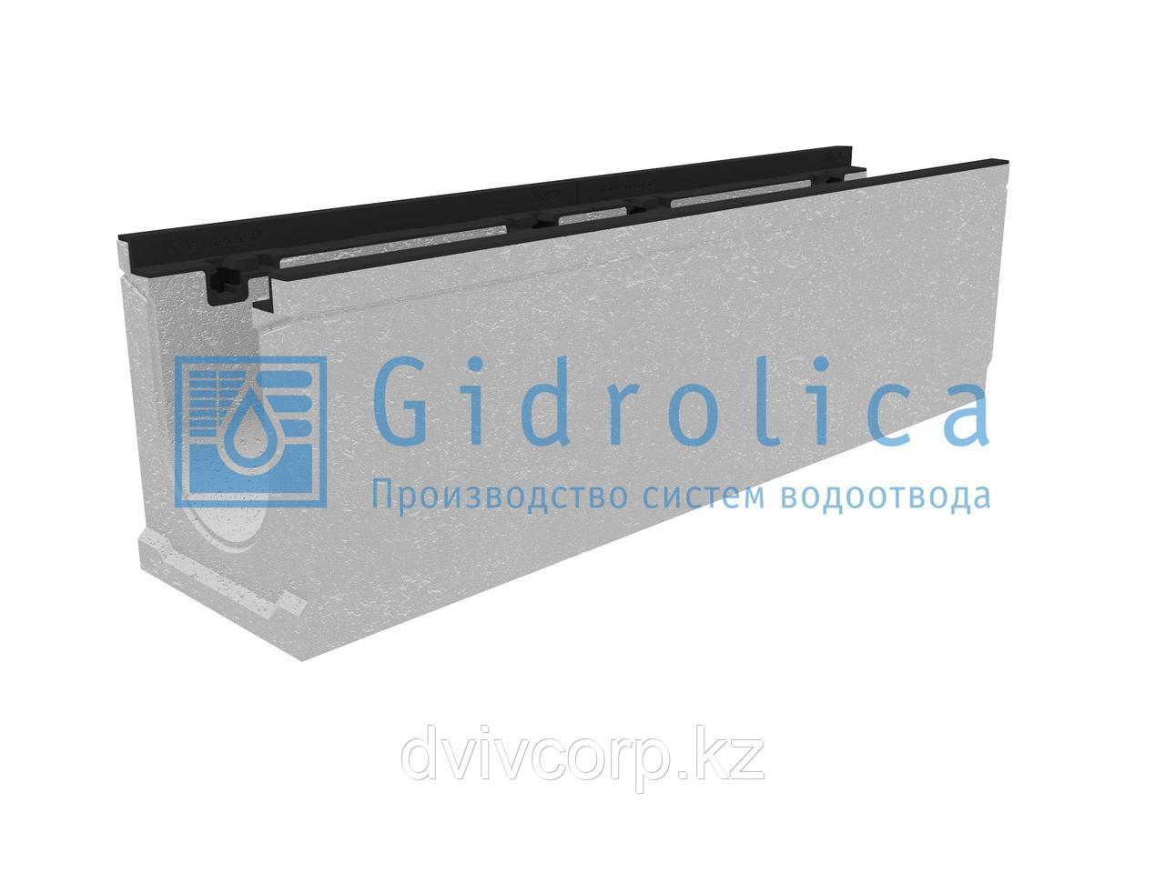 Лоток водоотводный бетонный коробчатый (СО-150мм), с чугунной насадкой КU 100.24,8 (15).29(22,5)-BGZ-S, № 10-0