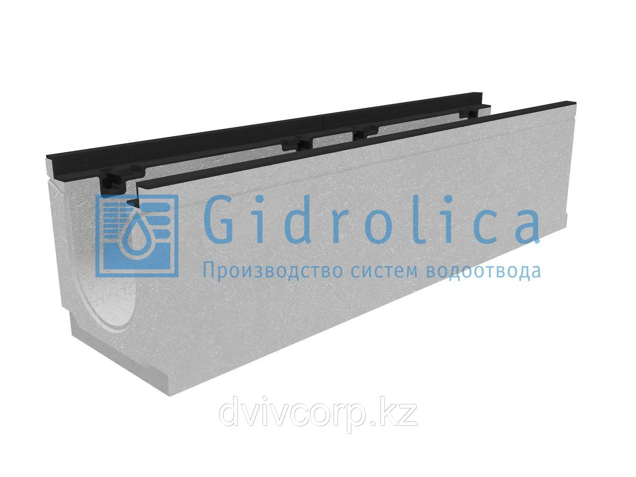 Лоток водоотводный бетонный коробчатый (СО-150мм), с чугунной насадкой КU 100.24,8 (15).26,5(20)-BGZ-S, № 5-0
