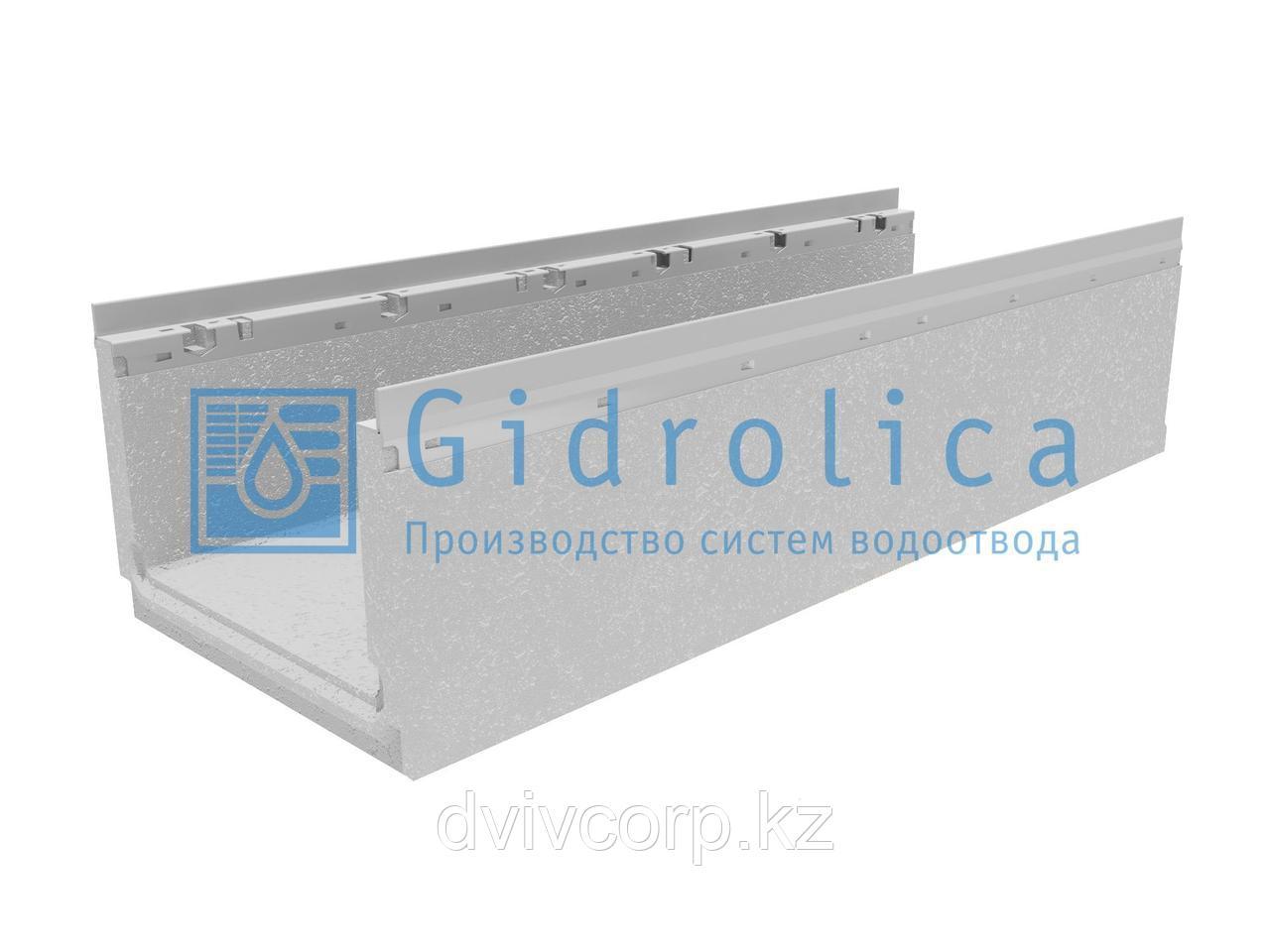Лоток водоотводный бетонный коробчатый (СО-300мм) с оцинкованной насадкой КП 100.36,3 (30).25(20,5) - BGF-Z, №