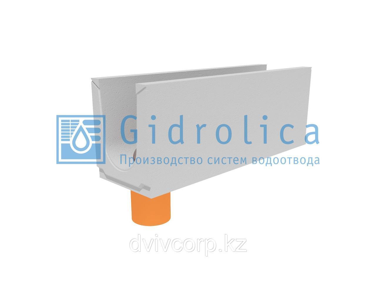 Лоток водоотводный бетонный коробчатый (СО-200мм), с водосливом КUв 100.29,8(20).37(30)-BGU, № 15-0