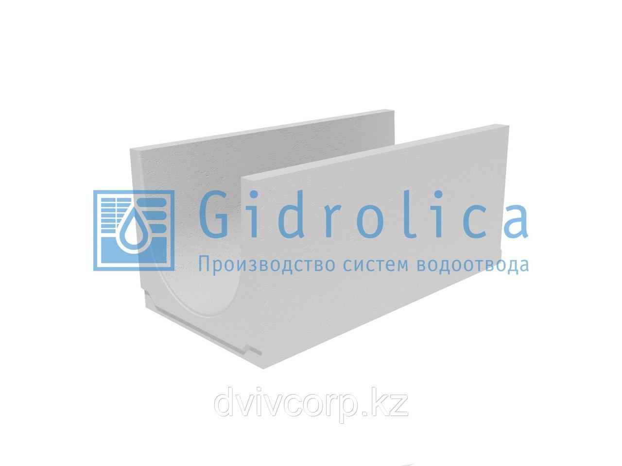 Лоток водоотводный бетонный коробчатый (СО-400мм)  КU 100.49,4(40).44,5(37,5) - BGU, № 10-0