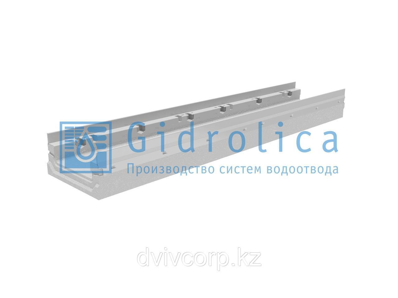 Лоток водоотводный бетонный коробчатый (СО-150мм), с оцинкованной насадкой КП 100.21,3 (15).10(6,5)-BGF-Z