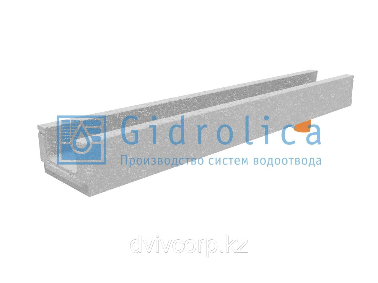 Лоток водоотводный бетонный коробчатый (СО-100мм), с водосливом  КПв 100.16 (10).10(6,5)- BGF