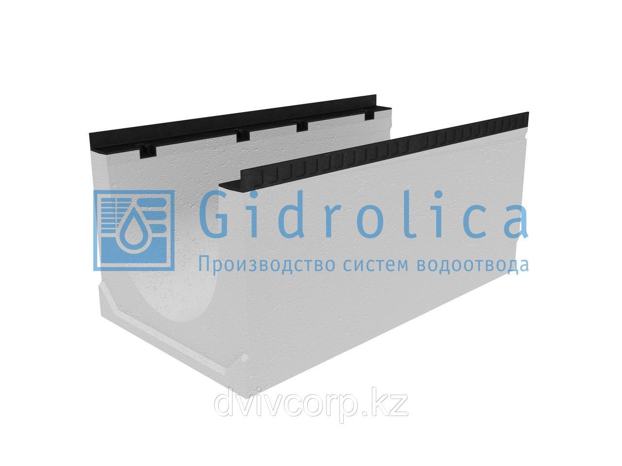 Лоток водоотводный бетонный коробчатый (СО-400мм), с уклоном 0,5% КUу 100.54(40).45(37) - BGМ, № -1