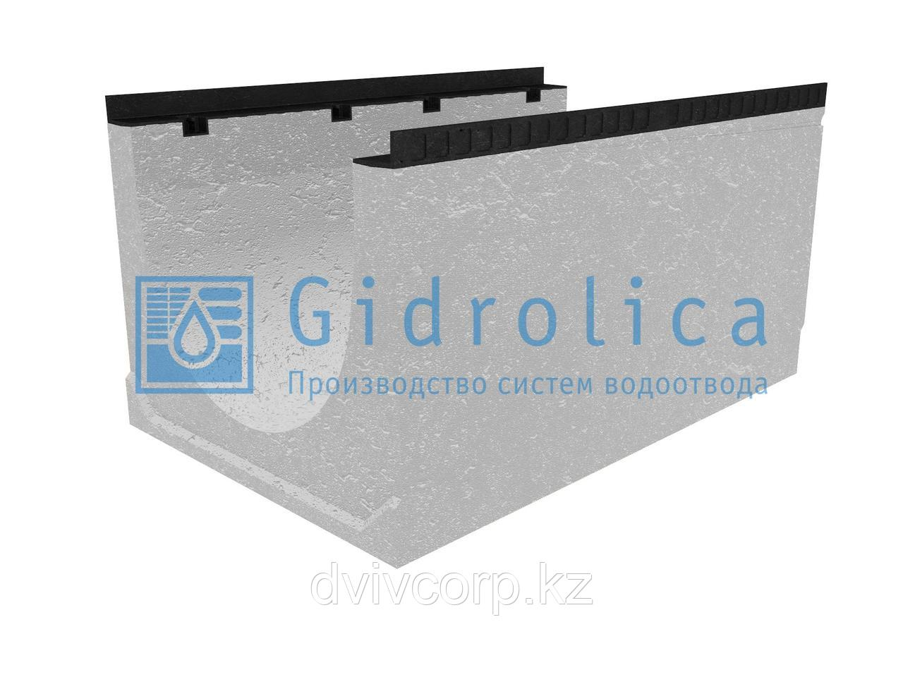 Лоток водоотводный бетонный коробчатый (СО-500мм), с уклоном 0,5%  КUу 100.65(50).53(44) - BGМ, № 16