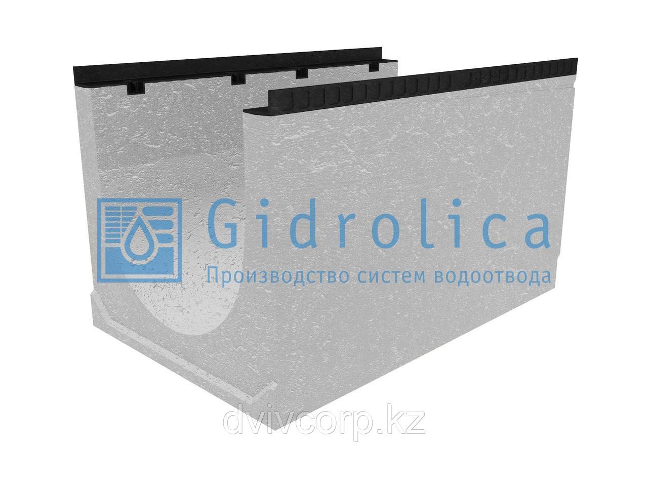 Лоток водоотводный бетонный коробчатый (СО-500мм), с уклоном 0,5%  КUу 100.65(50).61,5(52,5) - BGМ, № 33
