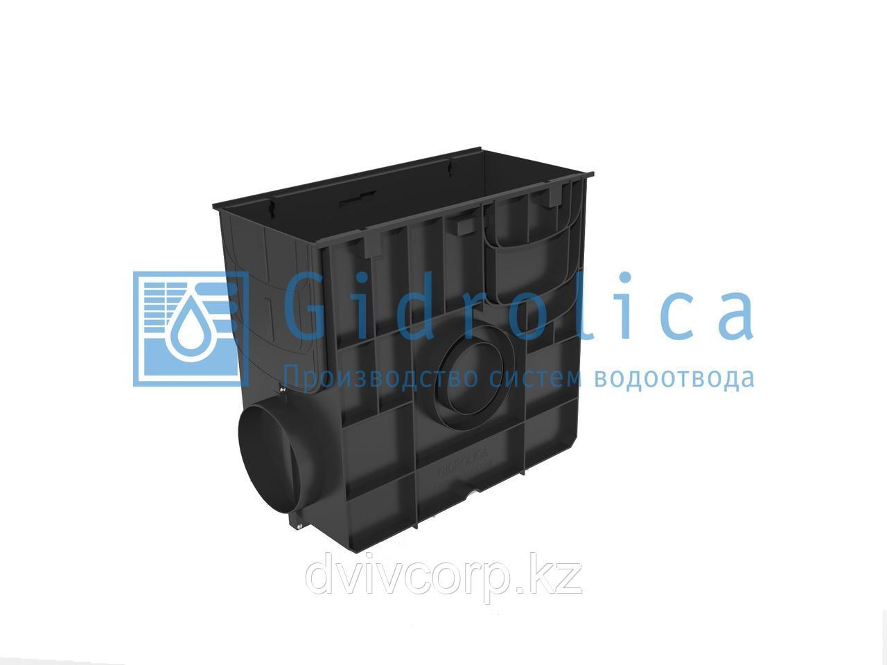 Пескоуловитель Gidrolica Standart ПУ-20.24,6.46 - пластиковый универсальный для лотков пластиковых DN150 и