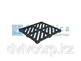 Решетка водоприемная Gidrolica Point РВ-28,5.28,5 - чугунная щелевая, кл. С250